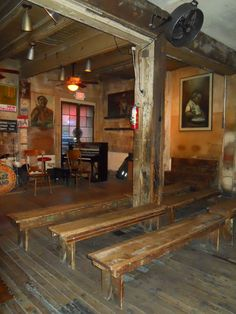 """The inside of Preservation Hall. """"Preservation Hall. Now that's where you will find all the greats."""" Louis Armstrong"""