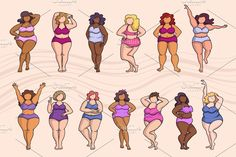 Set on the theme of body positive Custom-Designed Illustrations - Woman, Body,. - Set on the theme of body positive Custom-Designed Illustrations – Woman, Body,… – Set on t - Body Drawing, Woman Drawing, Fat Girl Dancing, Girl Drawing Sketches, Drawings, Female Pose Reference, Drawing Reference, Body Image Art, Fashion Figure Templates