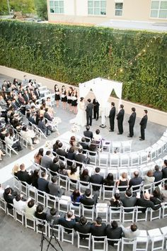 Semi circle ceremony chairs.. everyone can see