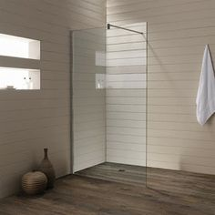 Glass Shower Wall Panels by Product Duchy Style Image Glass Shower Panels, Bathroom Shower Panels, Frameless Shower, Shower Walls, Shower Screens, Shower Rooms, Shower Floor, Wood Panel Bathroom, Wood Panel Walls