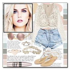 """Hello Sun ♥"" by ana-a-m ❤ liked on Polyvore featuring Stone_Cold_Fox, Maybelline, Topshop and Ray-Ban"
