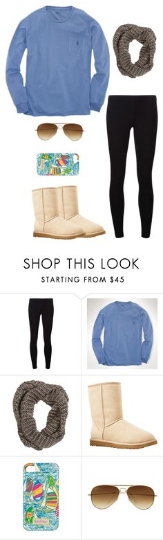 """""""Untitled #74"""" by preppy-otd ❤ liked on Polyvore featuring James Perse, Ralph Lauren, Krochet Kids, UGG Australia, Lilly Pulitzer and Ray-Ban"""