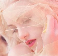 ☫ A Veiled Tale ☫ wedding, artistic and couture veil inspiration - pink