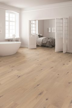 Plank Oak Stockholm- Landhausdiele Eiche Stockholm woodbase PREMIUM plank Stockholm Stockholm knotty brushed raw-look oiled - Wood Parquet, Wooden Flooring, Hardwood Floors, Oak Flooring, Flooring Ideas, Wide Plank, Floor Design, Cool Rooms, Living Room Designs