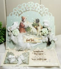 Gorgeous Vintage Style Christmas Card...Anne's Paper Fun...Wild Orchid Challenge 38.