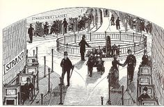 Images of a moving sidewalk of the future ran in an 1890 issue of Scientific American before a very similar system of urban transportation was actually built for the 1900 Paris Exposition.
