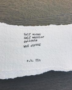 """9,507 Likes, 34 Comments - r.h. Sin (@r.h.sin) on Instagram: """"half woman, half warrior 