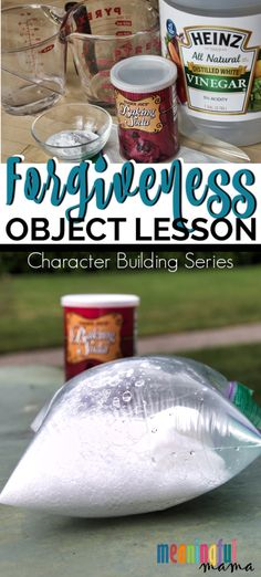 bible This character building object lesson about forgiveness takes a fun science experience and relates it to the risks of choosing not to forgive. Bible Study For Kids, Bible Lessons For Kids, Children Sunday School Lessons, Children Church Lessons, Preschool Bible Lessons, Fhe Lessons, Guidance Lessons, Church Activities, Kids Bible Activities