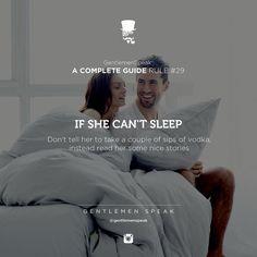 . Or offer her sex.
