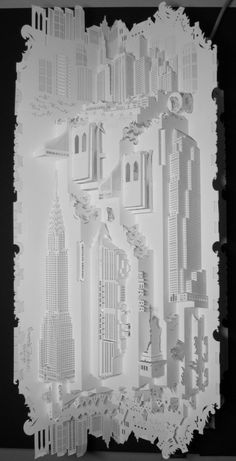 Paper Architecture series by Amsterdam-based paper artist Ingrid Siliakus Kirigami, 3d Paper, Paper Crafts, Paper Cutting, Book Art, Paper Art Design, Paper Architecture, Architectural Sculpture, Paper Engineering