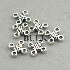 Celtic Charm Connectors, Knot Link pendant beads, up to 16 pcs, Antique Silver Owl Pendant, Beading Tutorials, Celtic Knot, Antique Silver, Knots, Beads, Welsh Alphabet, Etsy, Lead Free