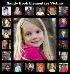 Remembering the children and adults of Sandy Hook School.  Although it was awful what happened their smiles will live on.