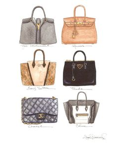 Prada, Chanel, Hermes, Celine, Yves St. Laurent and Louis Vuitton... Oh My!  Six of the old and new Classics.