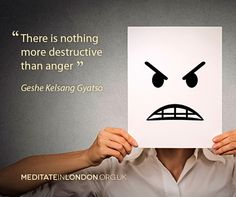 """There is nothing more destructive than anger"" Geshe Kelsang Gyatso #Buddhist #Meditation"