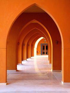 Orange Inspiration and Color Theory - The English Room - Musings of a Design Aficionado Architecture Design, Islamic Architecture, Orange Architecture, Gothic Architecture, Orange Aesthetic, Aesthetic Colors, Culture Art, Color Theory, Orange Color