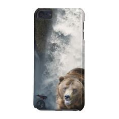 Grizzly Bear, Salmon and Waterfall Ipod Touch Cases plus many other Case models!