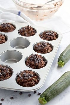 Low carb chocolate zucchini muffins made with coconut flour are gluten-free and perfect for a ketogenic diet. THM