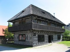 Čičmany, Slovakia -  is known for the local tradition of painting white geometric patterns on its dark wooden cottages. Read more in http://our.travel