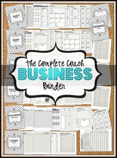 Coach Business and Social Media binder. Schedules, Planners, Trackers, Social Media management and MORE high quality PDF printable http://papasteves.com