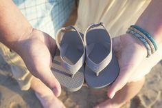 Pregnancy announcement, Beach, Sandals, Reveal, San Diego, Sand, Ocean, Baby