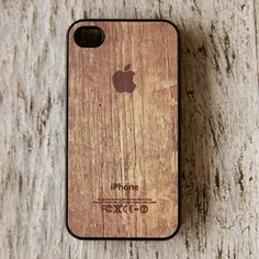iPhone 4/4S Case Apple Logo Brwn, $13, now featured on Fab.