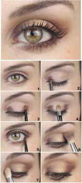 Makeup Tips & Tutorials : 5 Makeup Tips and Tricks You Cannot Live . Makeup Diy Tutorials diy makeup tips tutorials Hazel Eye Makeup, Gold Eye Makeup, Eye Makeup Steps, Makeup For Brown Eyes, Makeup Eyeshadow, Diy Makeup, Makeup Ideas, Beauty Makeup, Highlighter Makeup