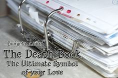 Are you the one in the home that handles all of the finances, pays the bills, makes the appointments, etc? If so, you are in desperate need of a Death Book . . .