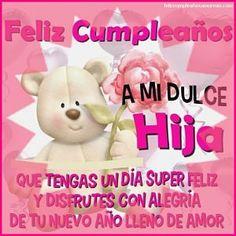Imagenes de cumpleanos para una hija especial Birthday Messages, Teddy Bear, Party, Ideas Para, Snoopy, Amor, Birthday Captions, Happy Birthday Captions, Daughters