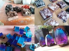 Nothing amazing like resin. It produces and keeps beautiful things which may not beauties at all. Diy Resin Crafts, Diy And Crafts, Arts And Crafts, Resin Jewellery, Shrinky Dinks, Uv Resin, Diy Videos, Stone Jewelry, Confessions