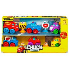 Tonka Chuck & Friends are the best vehicles for little kids and they come in different sizes. I don't even have any idea how many of these we have in the house... it's a lot.