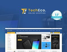 TechEco - The New Shopping Style Template Best Shopify Themes, Flower Food, Branding Your Business, Website Themes, Yuu, Design Development, Stuffing, Website Template, I Am Awesome