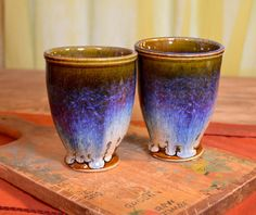 Ceramic cup, handmade tumbler, juice glass, tableware hand made stoneware by hughes pottery