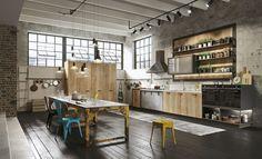 cuisine industrial Loft