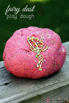 Fairy dust play dough - the perfect sparkly play dough for pretend play. An easy homemade recipe kids will love! Would make a great birthday party activity too.