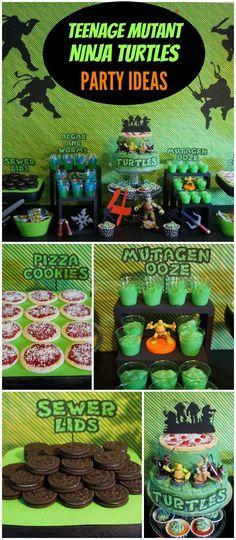 Turtle Birthday Parties, Ninja Birthday, Birthday Fun, Birthday Party Themes, Birthday Ideas, Carnival Birthday, Sons Birthday, Birthday Cakes, Ninja Turtle Party