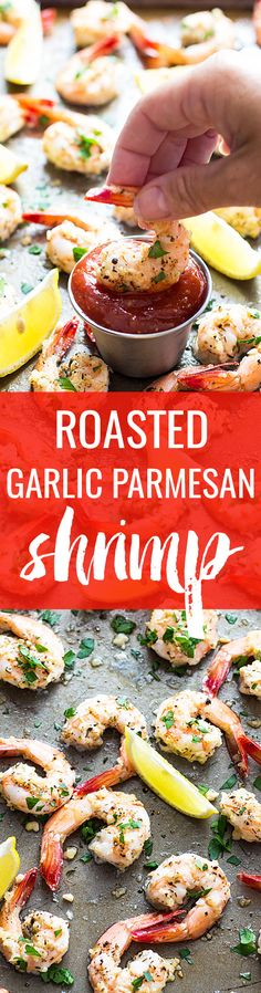 Roasted Garlic Parmesan Shrimp - Just 20 minutes is all it takes for the most…