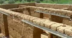 Their new home was crafted out of mud bricks and over the course of a year a two-bedroom s. Mud Hut, Two Bedroom, Luxury Life, Bricks, Moroccan, New Homes, Luxury Living, Brick