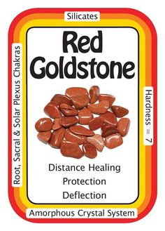 """Crystal Card of the Day: Red Goldstone, """"I sparkle like the Universe, and absorb only positive energies."""" Red Goldstone is a reddish copper color with beautiful flecks of copper suspended inside. Red Goldstone can be used as a physical stimulator and..."""