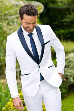 2017 Men Black Double Breasted Wedding Groom Suit With Pants Tuxedo For Men Wedding Suits Prom Best Man Suit (Jacket+Pants+Bow) White Tuxedo Wedding, Prom Tuxedo, Mens White Wedding Suits, Blazer For Men Wedding, Groom Wear, Groom Attire, Tuxedo For Men, White Suits For Men, Tuxedo Vest