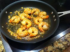 Garlic Curry Shrimp with Paleo Couscous.