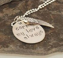 Carry My Love Handstamped Necklace