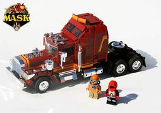 Mask was another famous Tv show i was pretty crazy about as a kid. - My LEGO version of the famous MASK toys .who doesn't remember them? Cool Lego, Cool Toys, Awesome Lego, Awesome Stuff, Lego Vintage, Vintage Stuff, Lego Truck, Retro Cartoons, Cartoon Toys