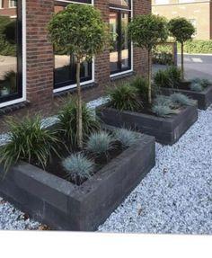 Back Garden Design, Garden Design Plans, Backyard Patio Designs, Front Yard Landscaping, Outdoor Plants, Outdoor Gardens, Cinder Block Garden, Blue Garden, Back Gardens