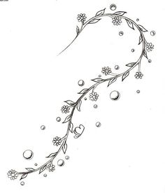 Small Flowers Vine Tattoo Design For Ankle