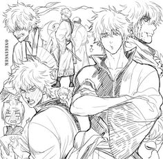 Image about gintama in ɢɪɴᴛᴀᴍᴀ by ad astra on We Heart It Manga Anime, Anime Art, Anime Faces Expressions, Character Art, Character Design, Gintama, Handsome Anime Guys, Anime Kunst, Drawing Poses