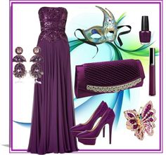 """Mobile Mardi Gras Ball"" by sherrynp ❤ liked on Polyvore"