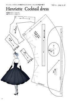 Henriette Cocktail Dress Pattern - Page 1 of 3 by PearForTheTeacher
