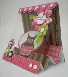 Craftwork Cards. Owl step card