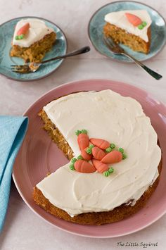 Adorably decorated Carrot Cake.