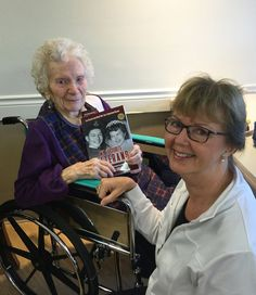 """Jessie Lee Middleton lives in a nursing home in Abbotsford, B.C. In September 2016 I gave her a copy of my book containing her story, titled My Favourite Veterans: True Stories From World War Two's Hometown Heroes.  This former military nurse, who served in Italy and Europe, will be one hundred years old in December. She creid when I gave her the book, and said: """"Now I'm glad I lived so long after all!"""" For more: www.elinorflorence.com/blog/canadian-nurses-wartime."""